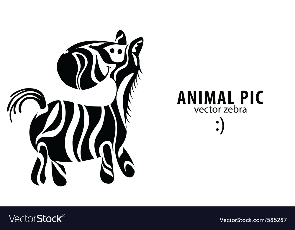 Cartoon zebra vector | Price: 1 Credit (USD $1)