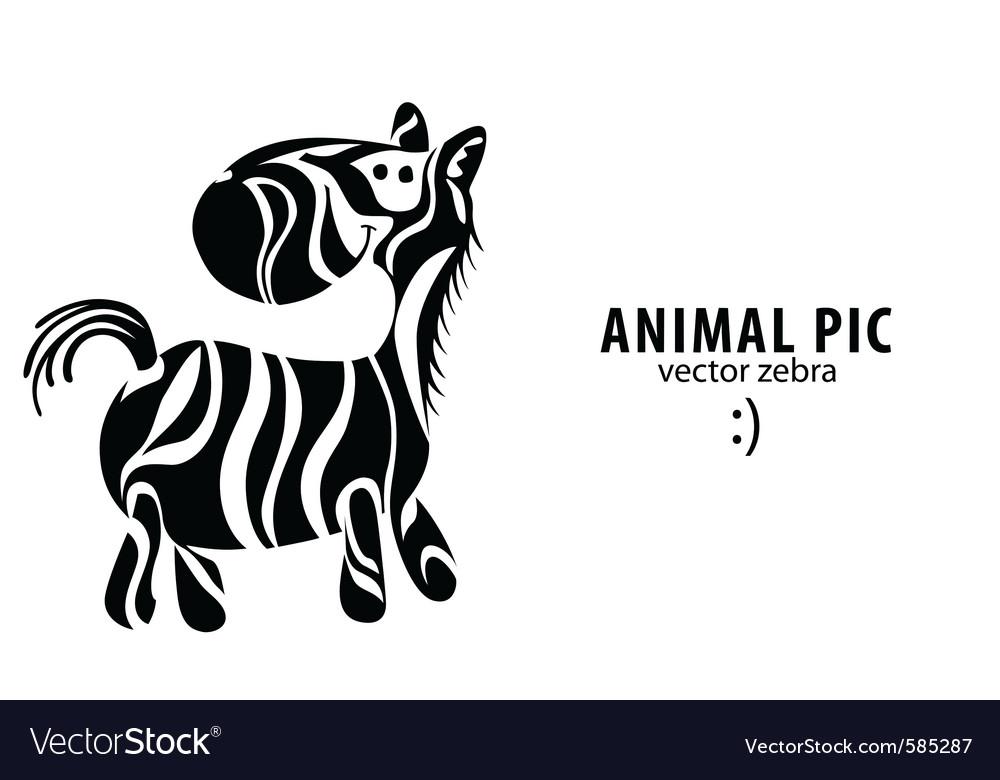 Cartoon zebra vector | Price: 1 Credit (USD $1)