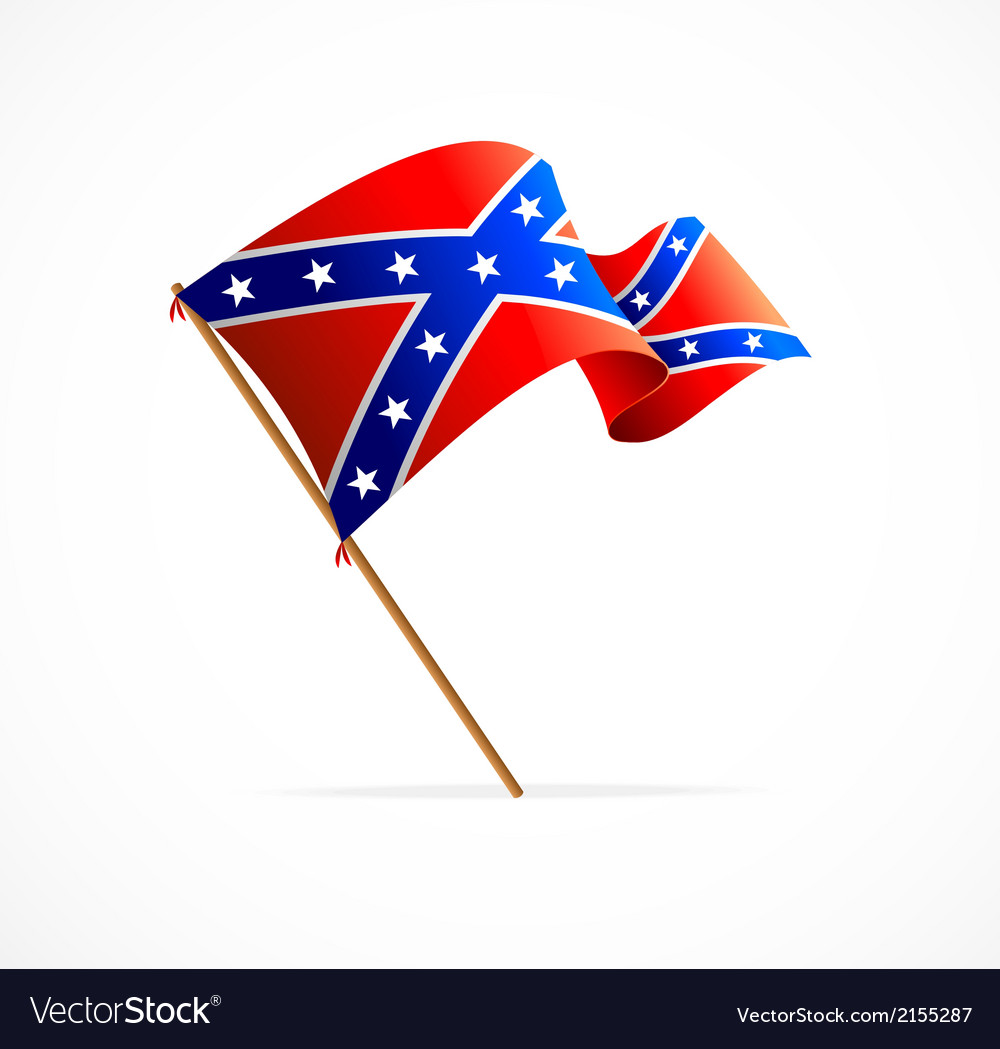 Flag of confederate vector | Price: 1 Credit (USD $1)