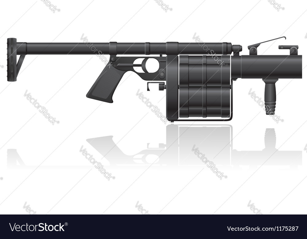 Grenade gun 01 vector | Price: 1 Credit (USD $1)