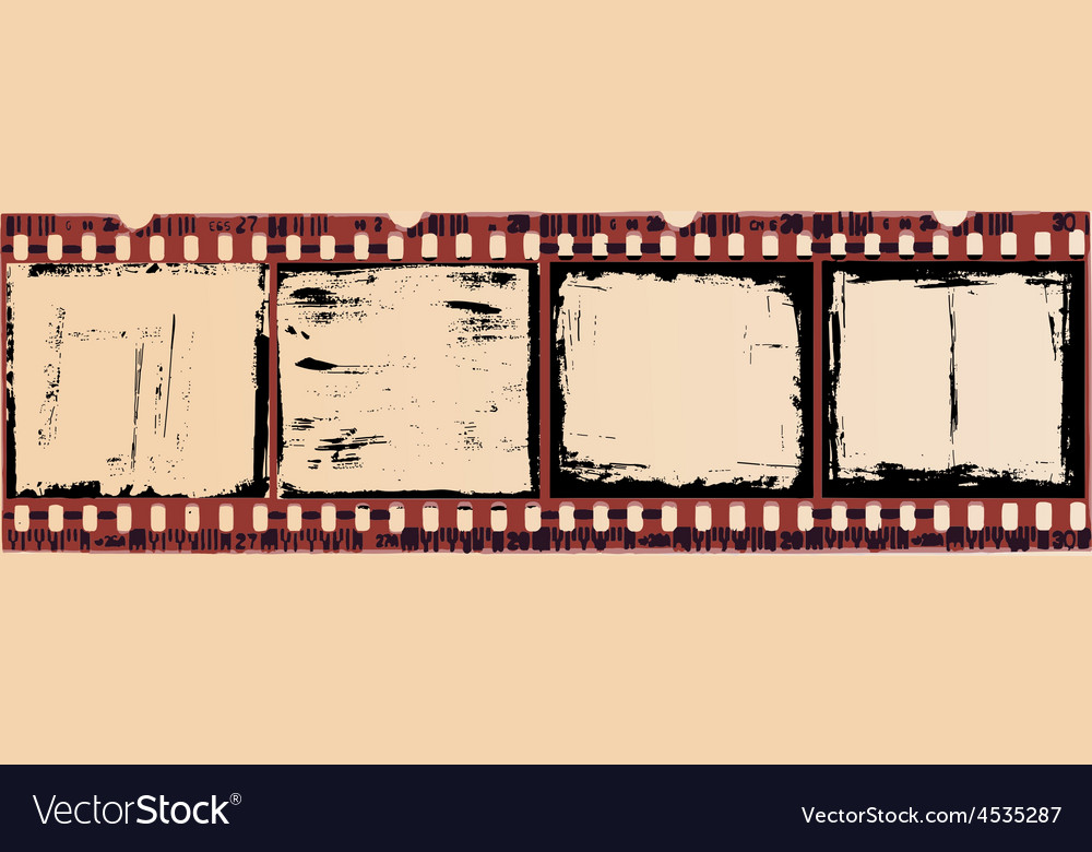 Grunge film cells smaller size vector