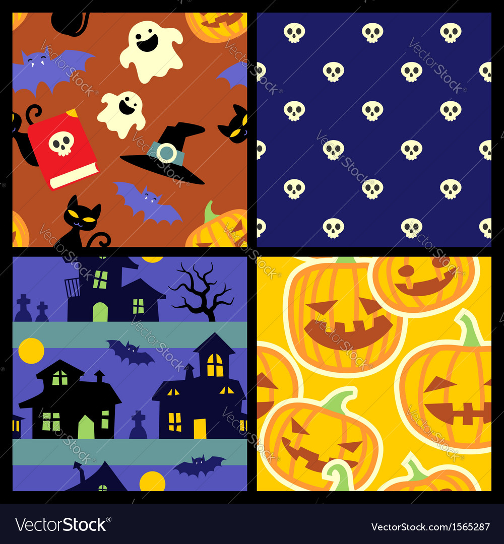 Happy halloween pattern vector   Price: 1 Credit (USD $1)