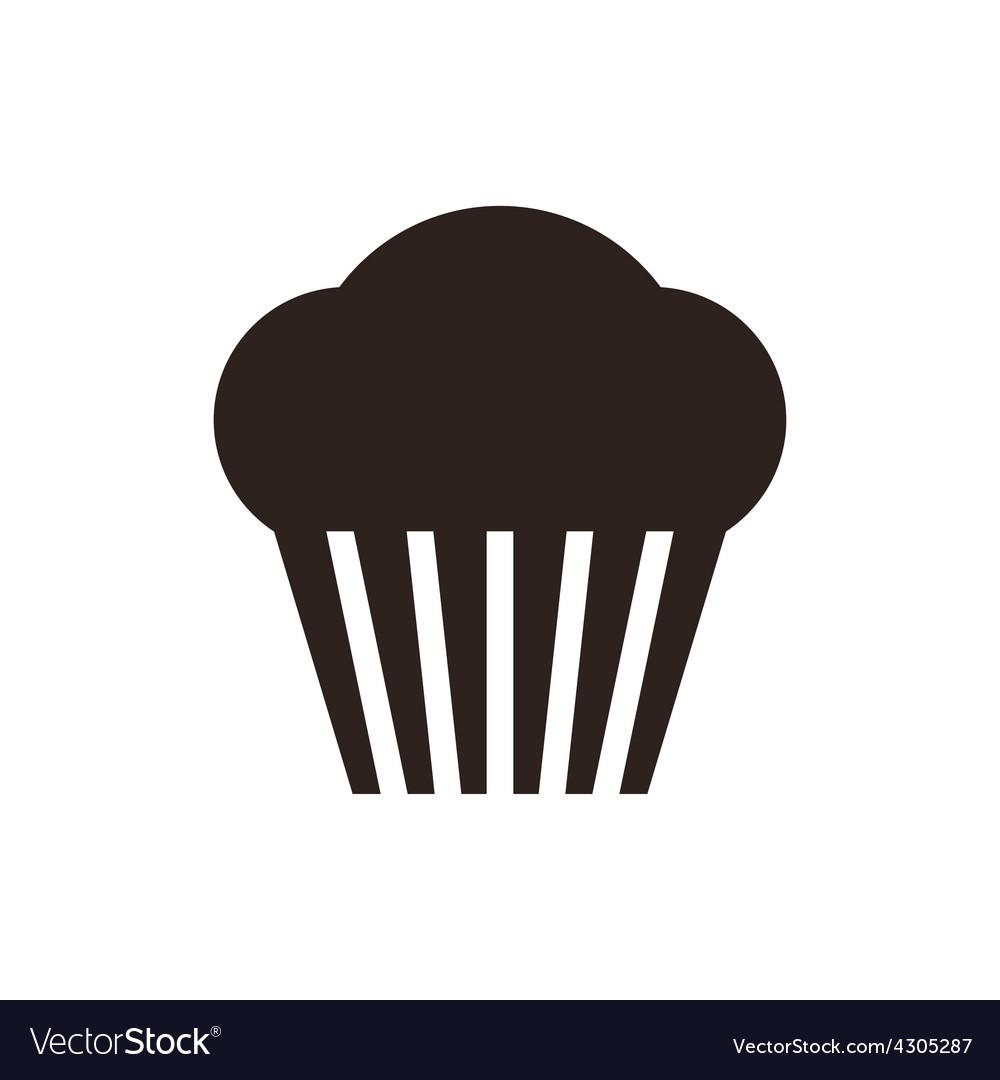 Muffin cupcake icon vector   Price: 1 Credit (USD $1)
