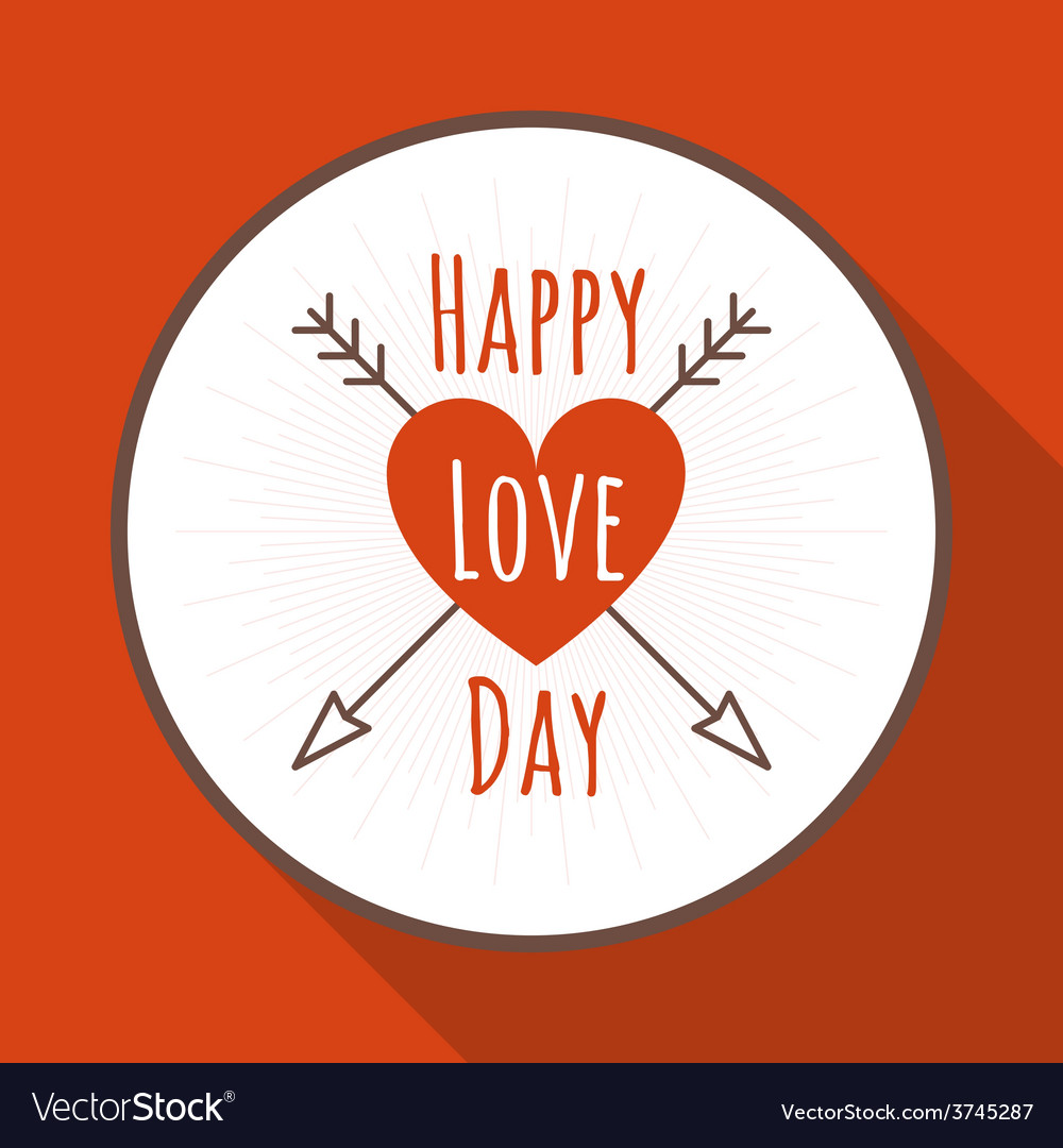 St valentines day greeting card in flat style a vector | Price: 1 Credit (USD $1)