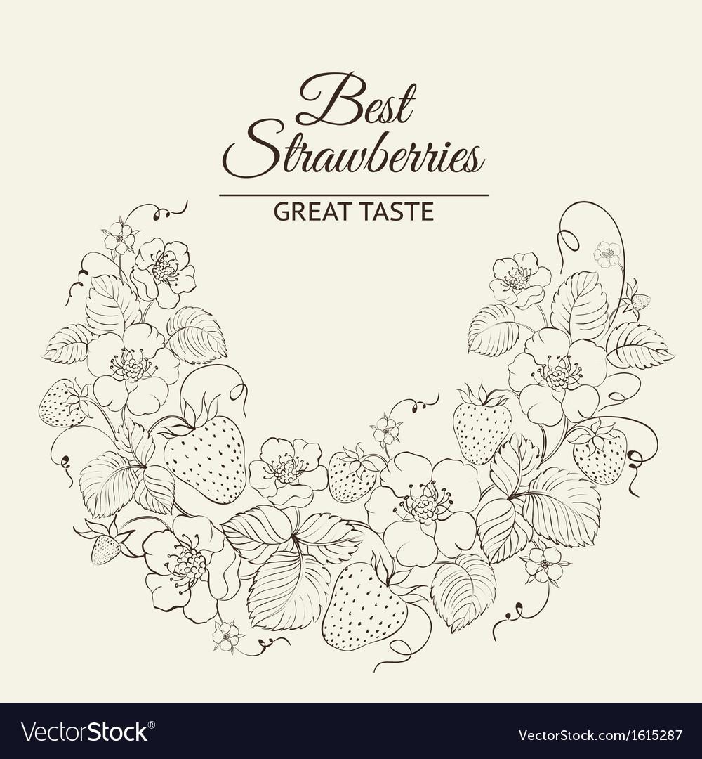 Strawberries brunch vector | Price: 1 Credit (USD $1)