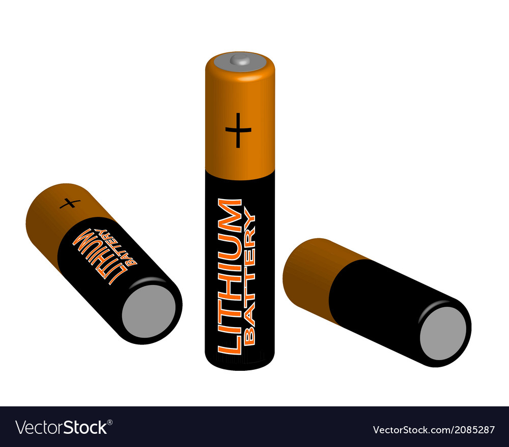Three batteries vector | Price: 1 Credit (USD $1)