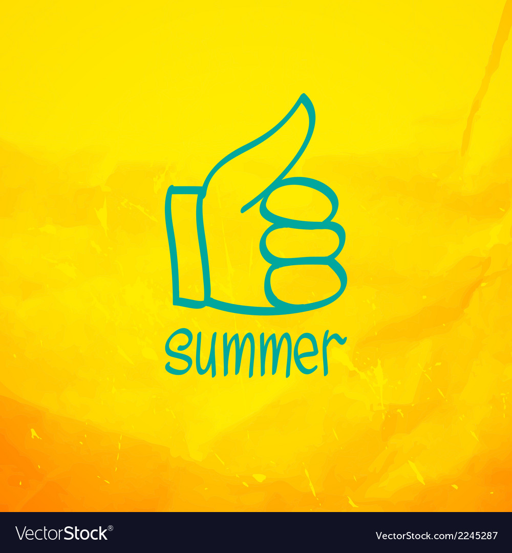 Thumb up and like concept symbol vector | Price: 1 Credit (USD $1)