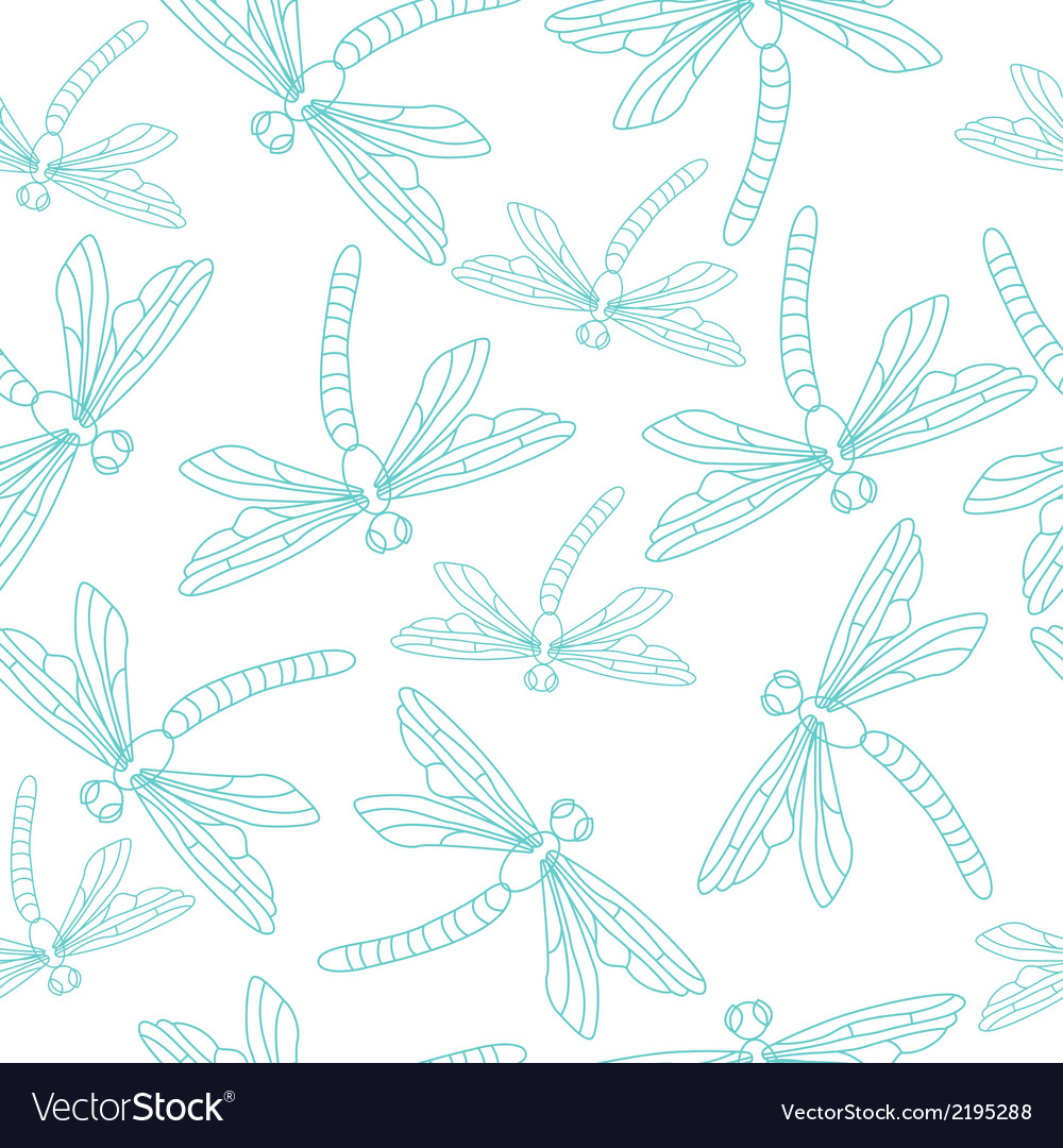 Blue dragonflies vector | Price: 1 Credit (USD $1)