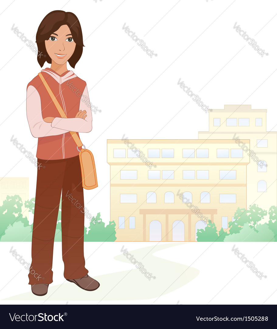 Boy student vector | Price: 1 Credit (USD $1)