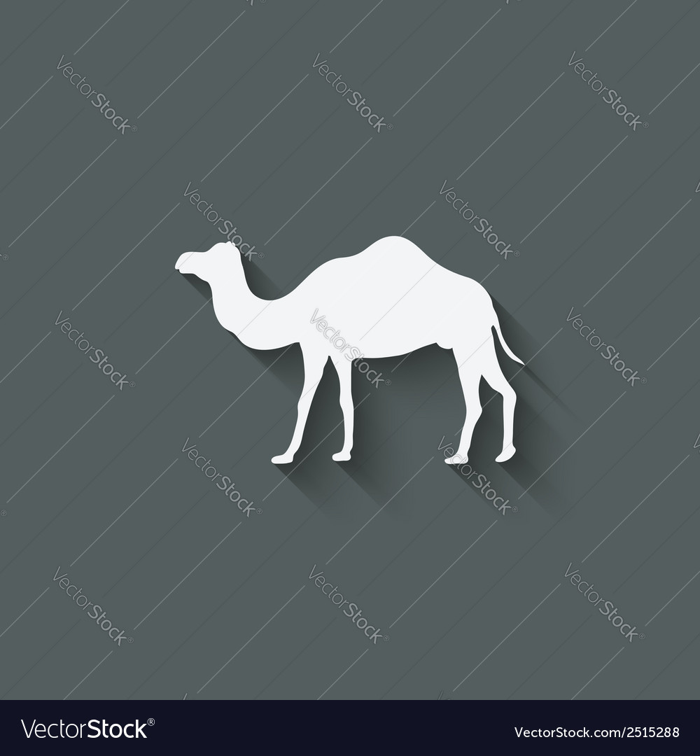 Camel design element vector | Price: 1 Credit (USD $1)