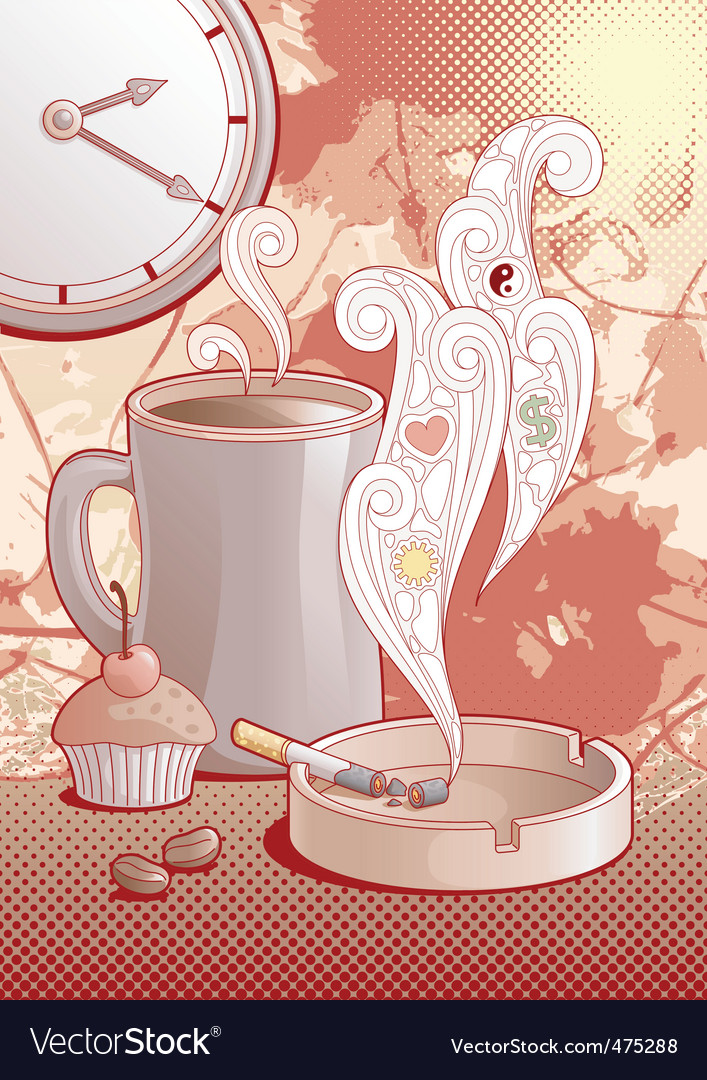 Coffee and cigarettes vector | Price: 3 Credit (USD $3)