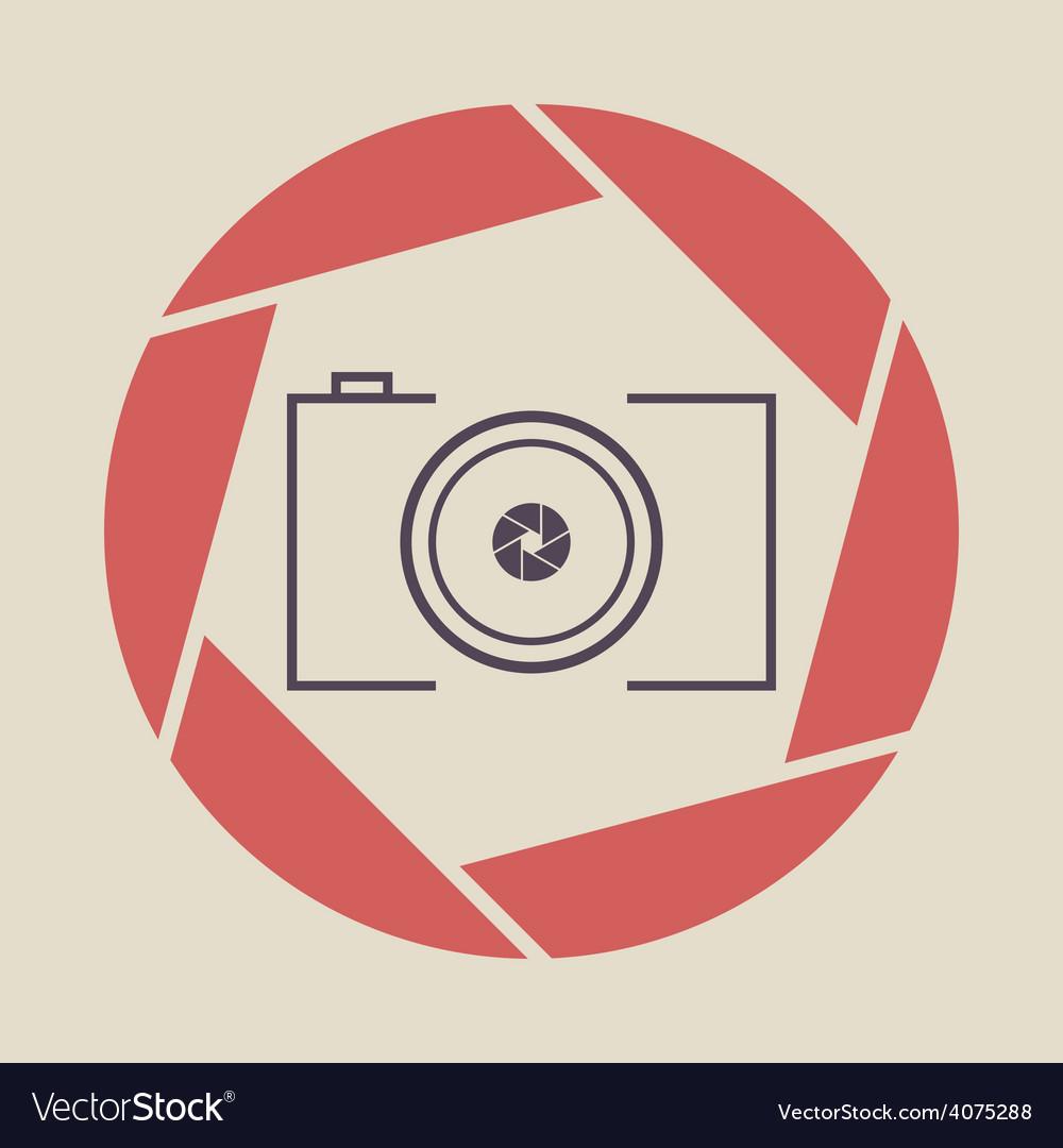 Photo camera icon shutter vector | Price: 1 Credit (USD $1)