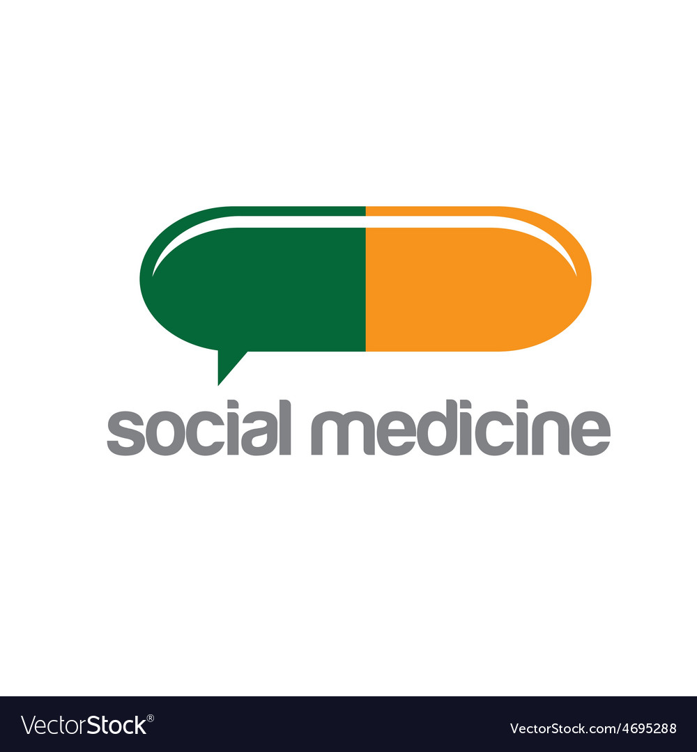 Social medicine design template vector | Price: 1 Credit (USD $1)