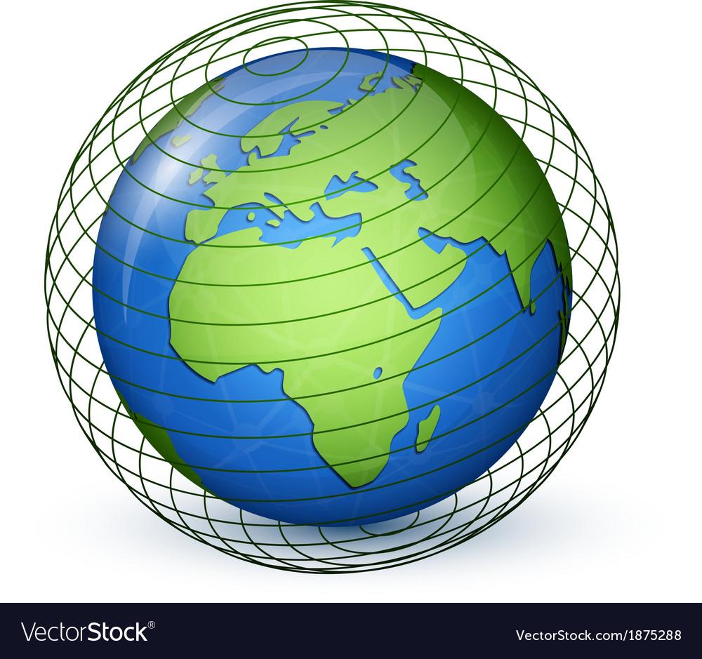 World globe map  africa europe vector