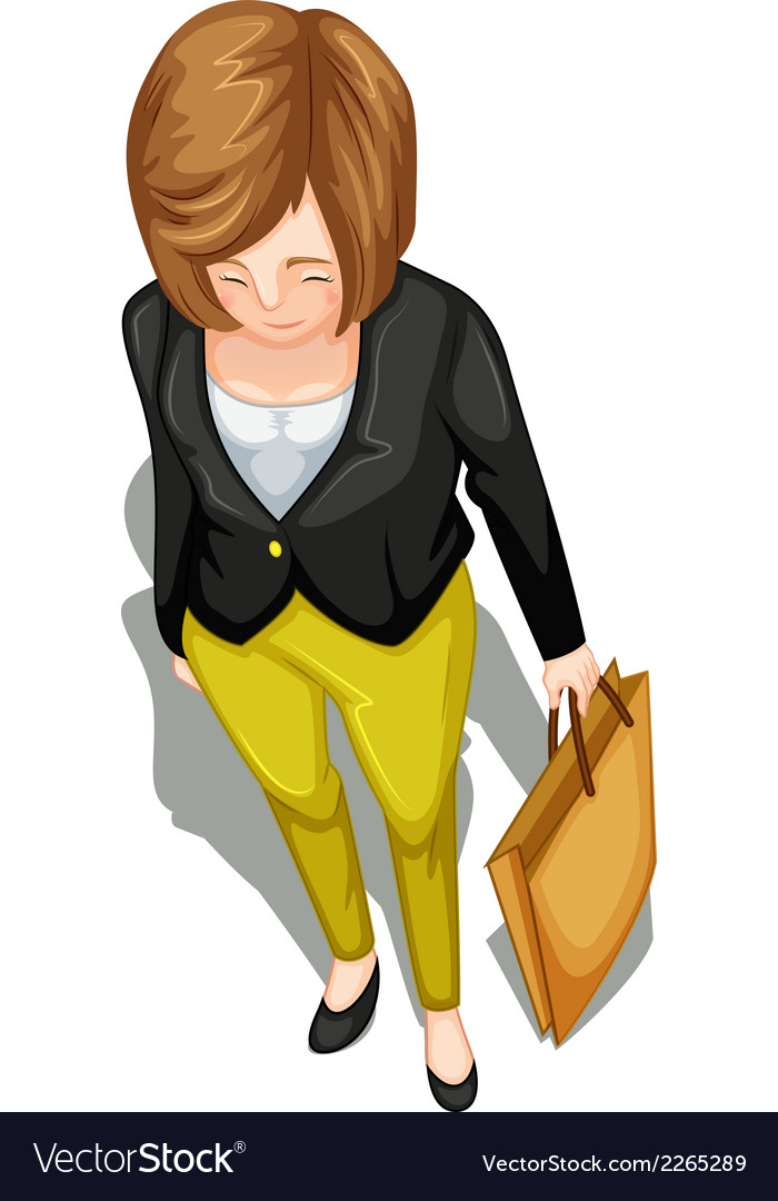 A topview of a businesswoman vector | Price: 1 Credit (USD $1)