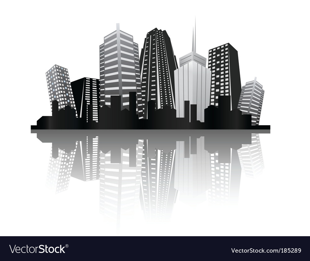 Abstract city design vector | Price: 1 Credit (USD $1)