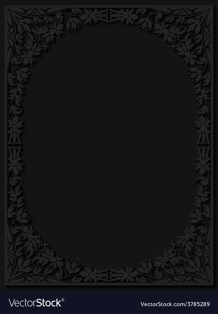 Abstract paper floral frame vector