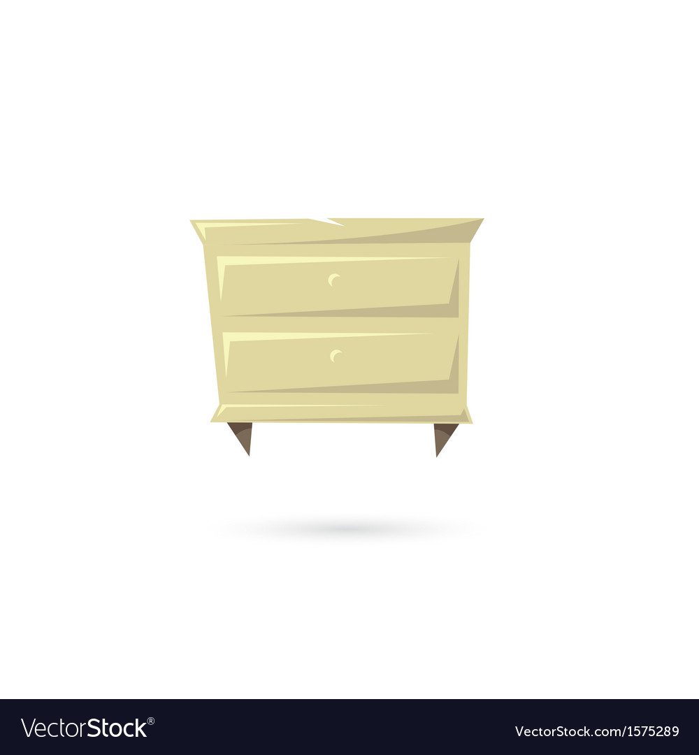 Commode isolated on a white backgrounds vector | Price: 1 Credit (USD $1)