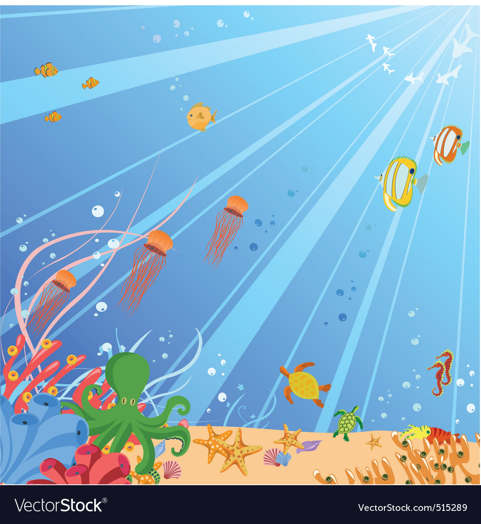 Creatures of the seas vector | Price: 1 Credit (USD $1)
