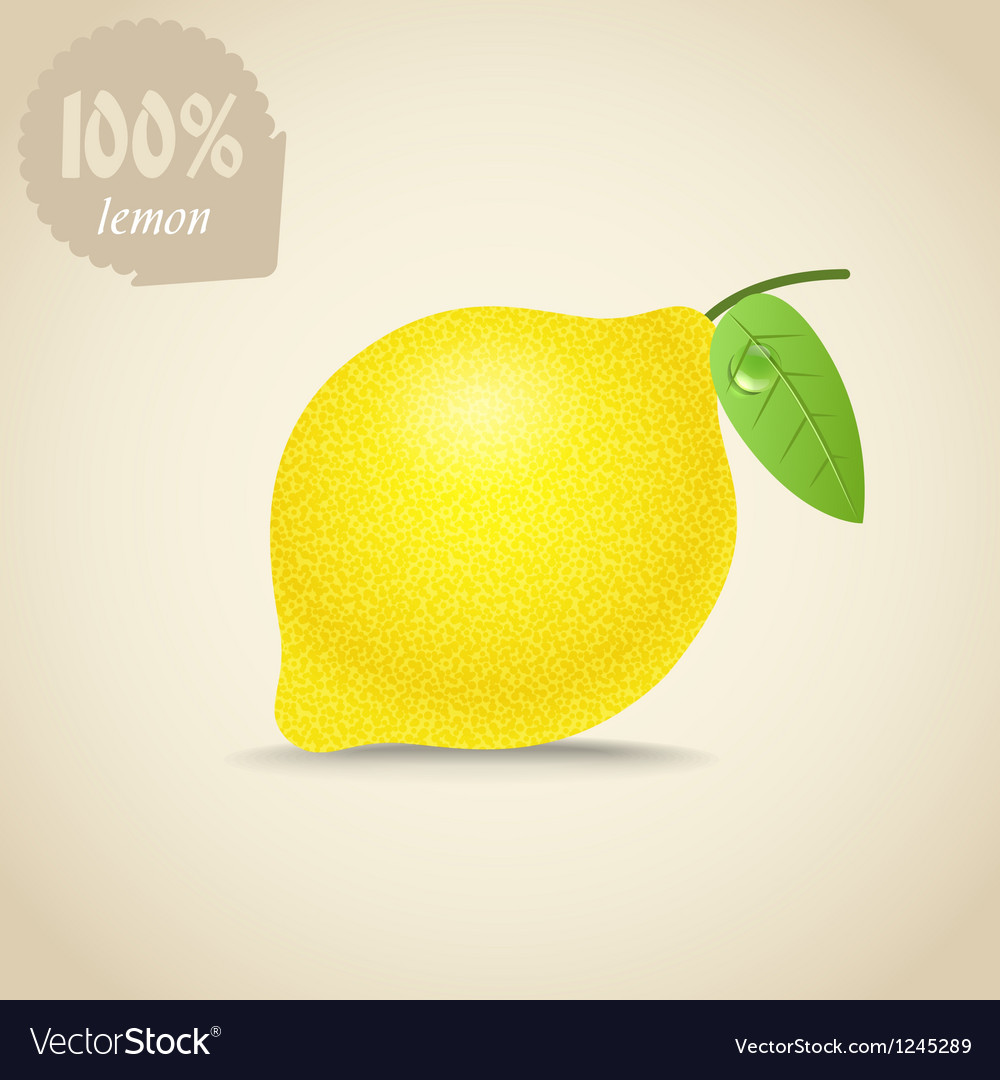 Cute fresh lemon vector | Price: 1 Credit (USD $1)