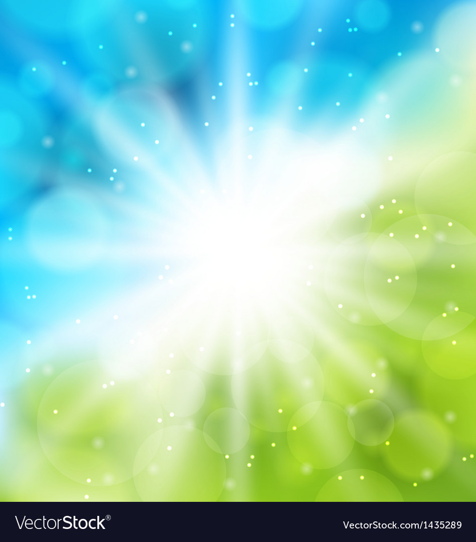 Cute nature background with lens flare vector | Price: 1 Credit (USD $1)