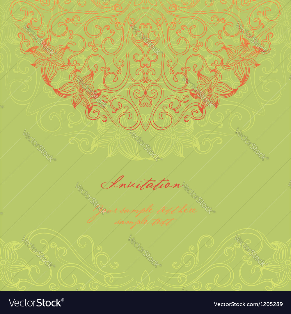 Elegant invitation cards vector | Price: 1 Credit (USD $1)