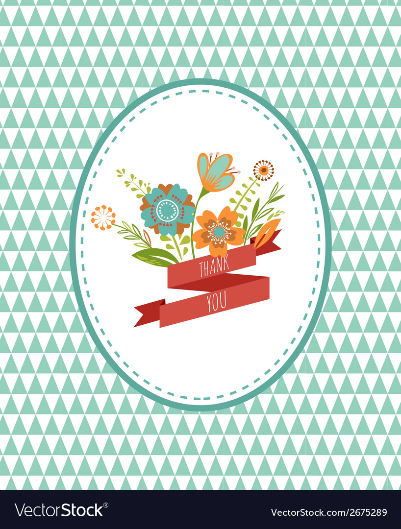 Flowers with frames - card vector | Price: 1 Credit (USD $1)