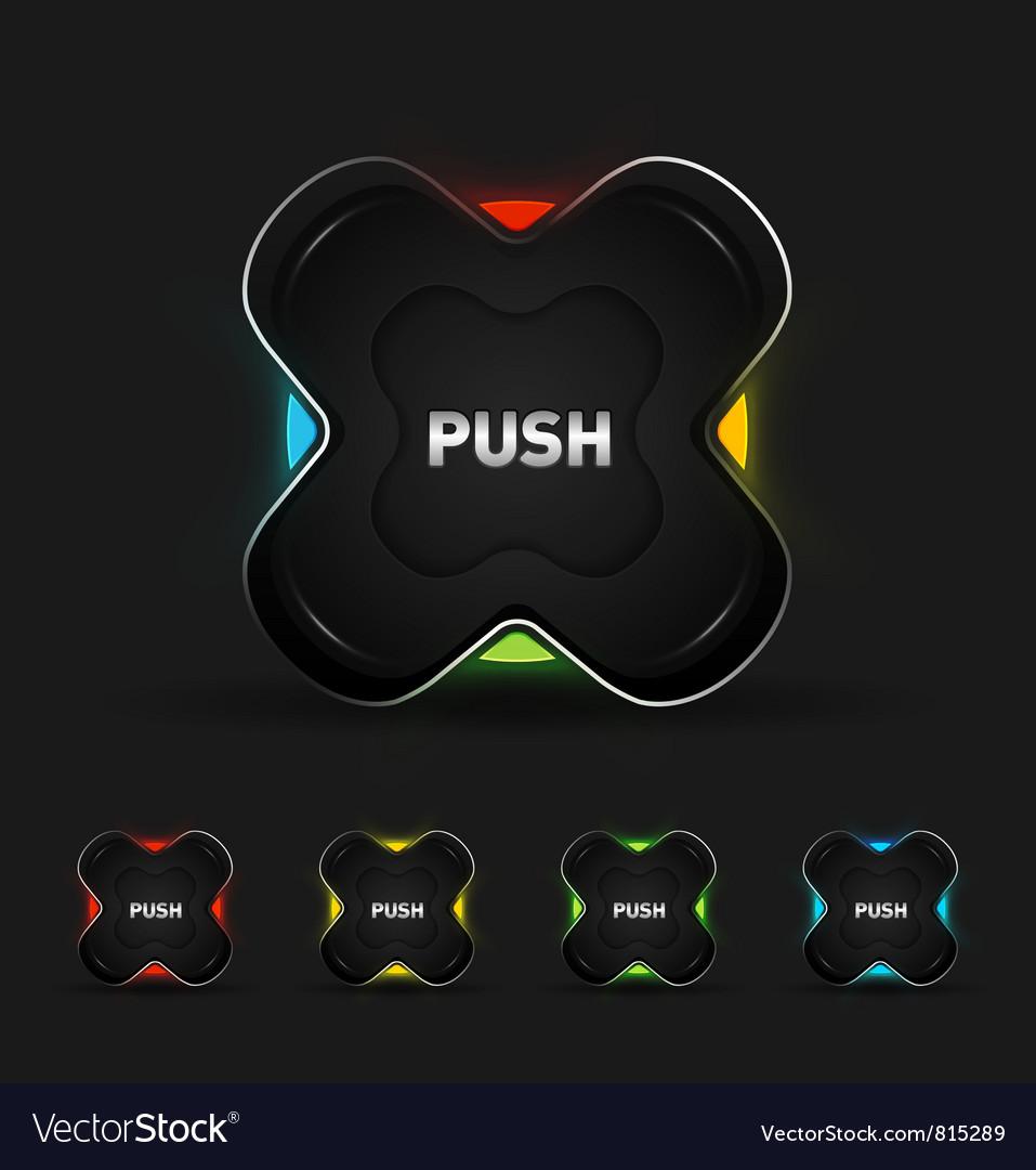 Futuristic button vector | Price: 1 Credit (USD $1)