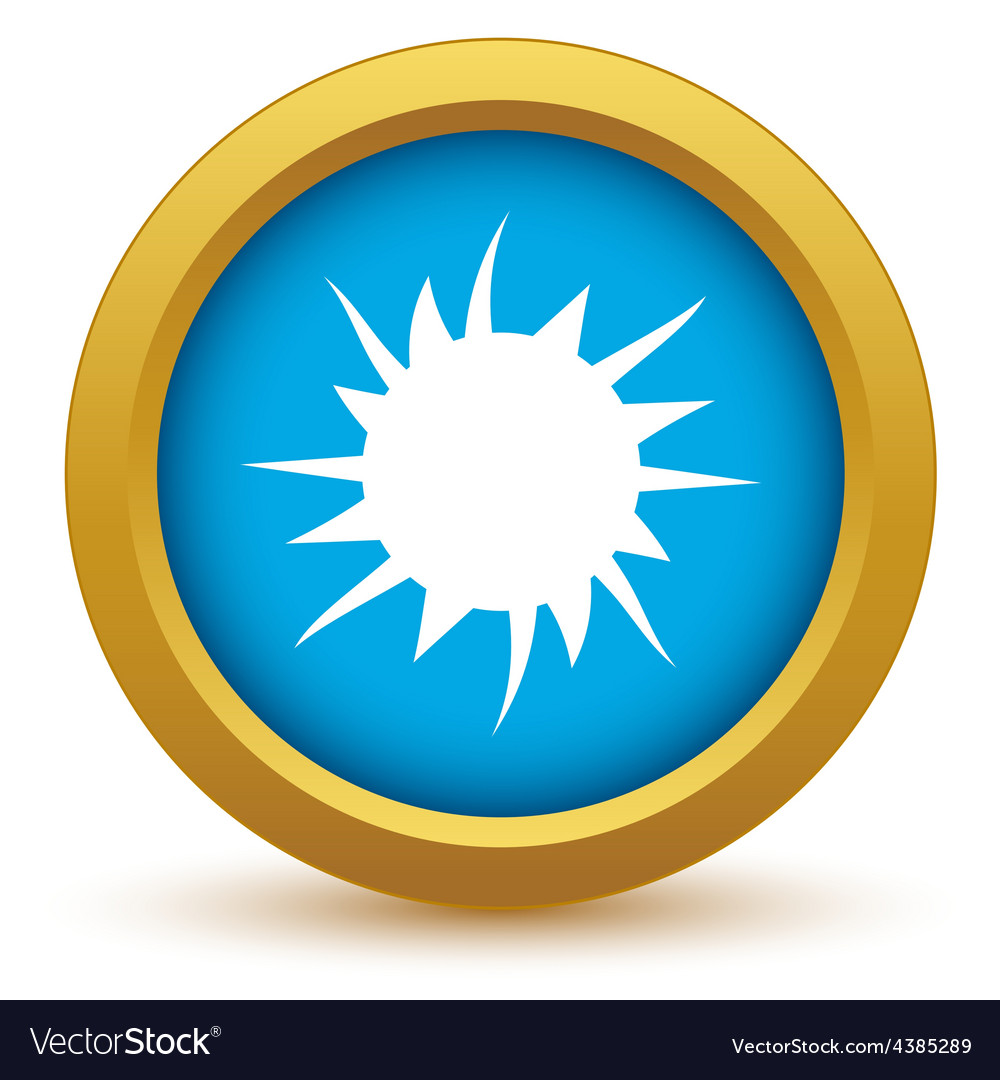 Gold sun icon vector | Price: 1 Credit (USD $1)