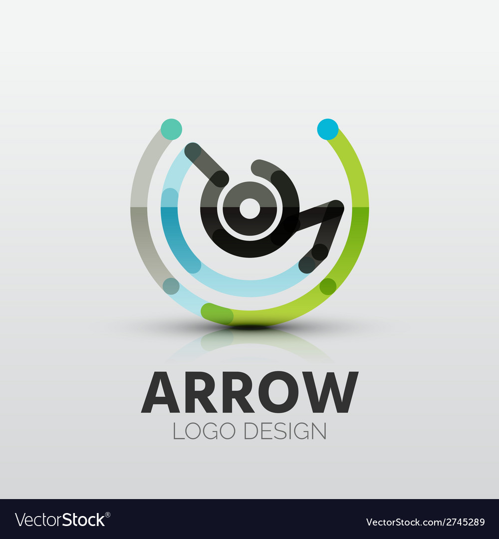 Rotation arrow company logo business concept vector | Price: 1 Credit (USD $1)