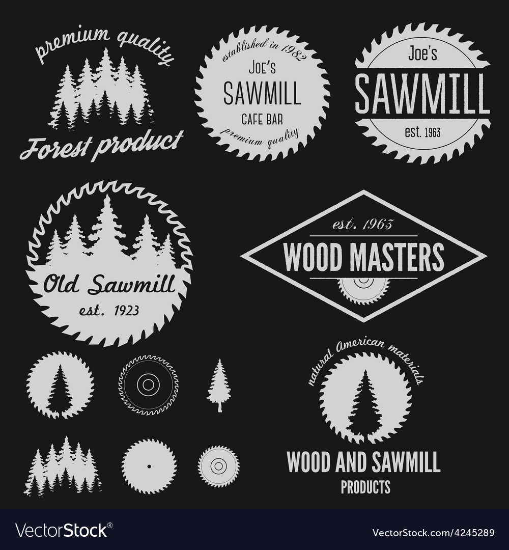 Set of logo labels badges and logotype elements vector | Price: 1 Credit (USD $1)