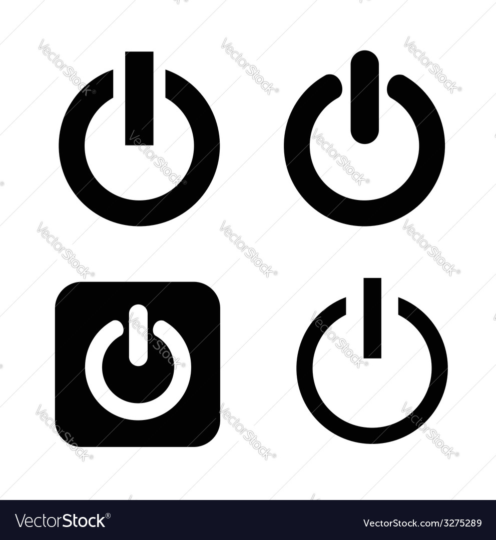 Shut down icons vector | Price: 1 Credit (USD $1)