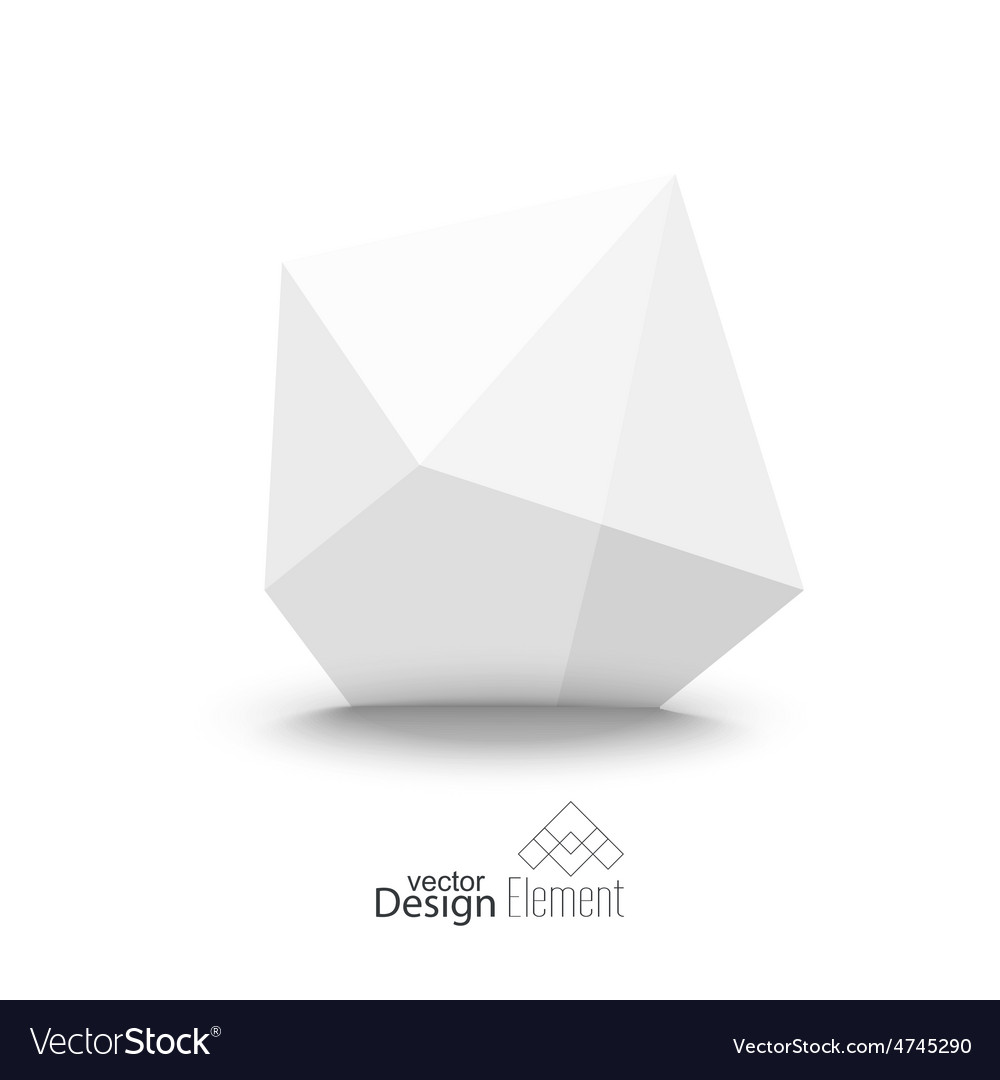 Abstract polygonal geometric shape vector | Price: 1 Credit (USD $1)