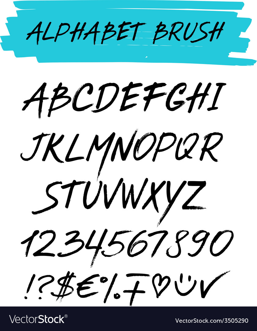 Alphebet set brush style vector | Price: 1 Credit (USD $1)