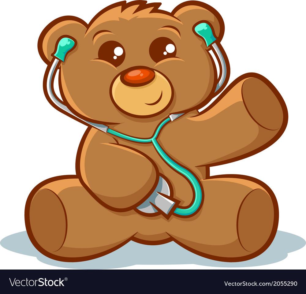 Doctor teddy bear vector | Price: 1 Credit (USD $1)