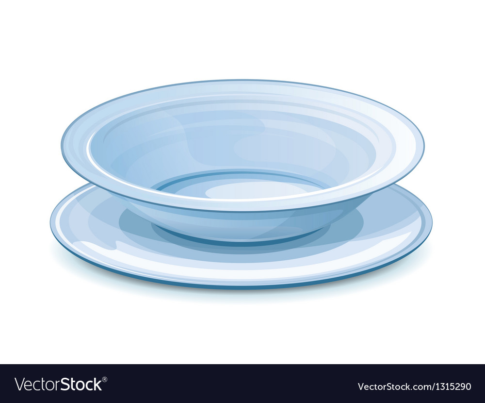 Empty dinner plate with stand vector | Price: 3 Credit (USD $3)