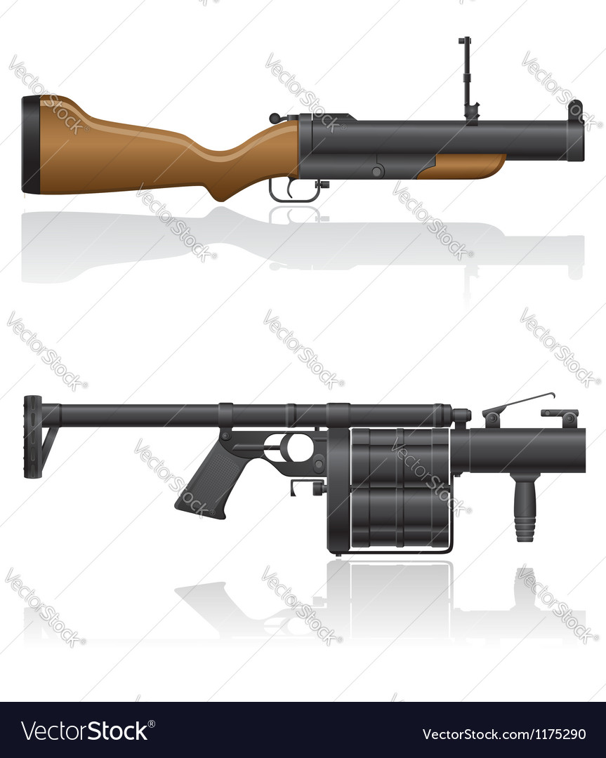 Grenade gun 03 vector | Price: 1 Credit (USD $1)