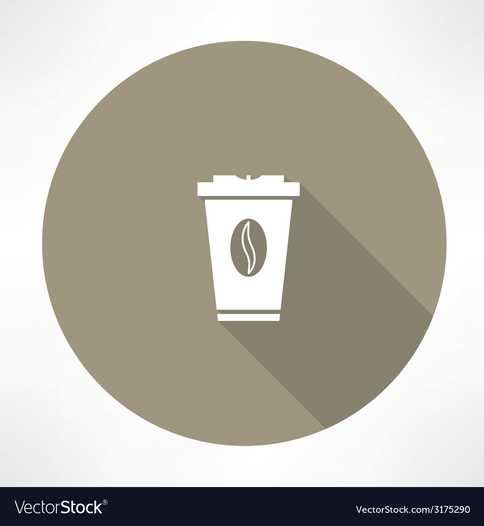 Plastic cup with coffee icon vector | Price: 1 Credit (USD $1)