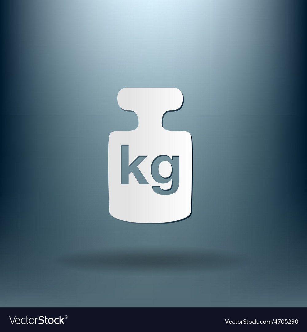 Weight icon symbol denoting a measure of weight vector | Price: 1 Credit (USD $1)