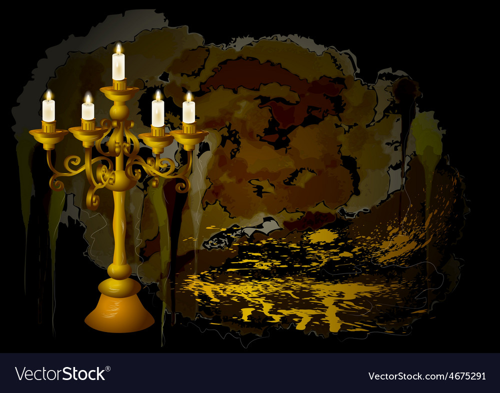 Candelabrum and candles vector | Price: 1 Credit (USD $1)