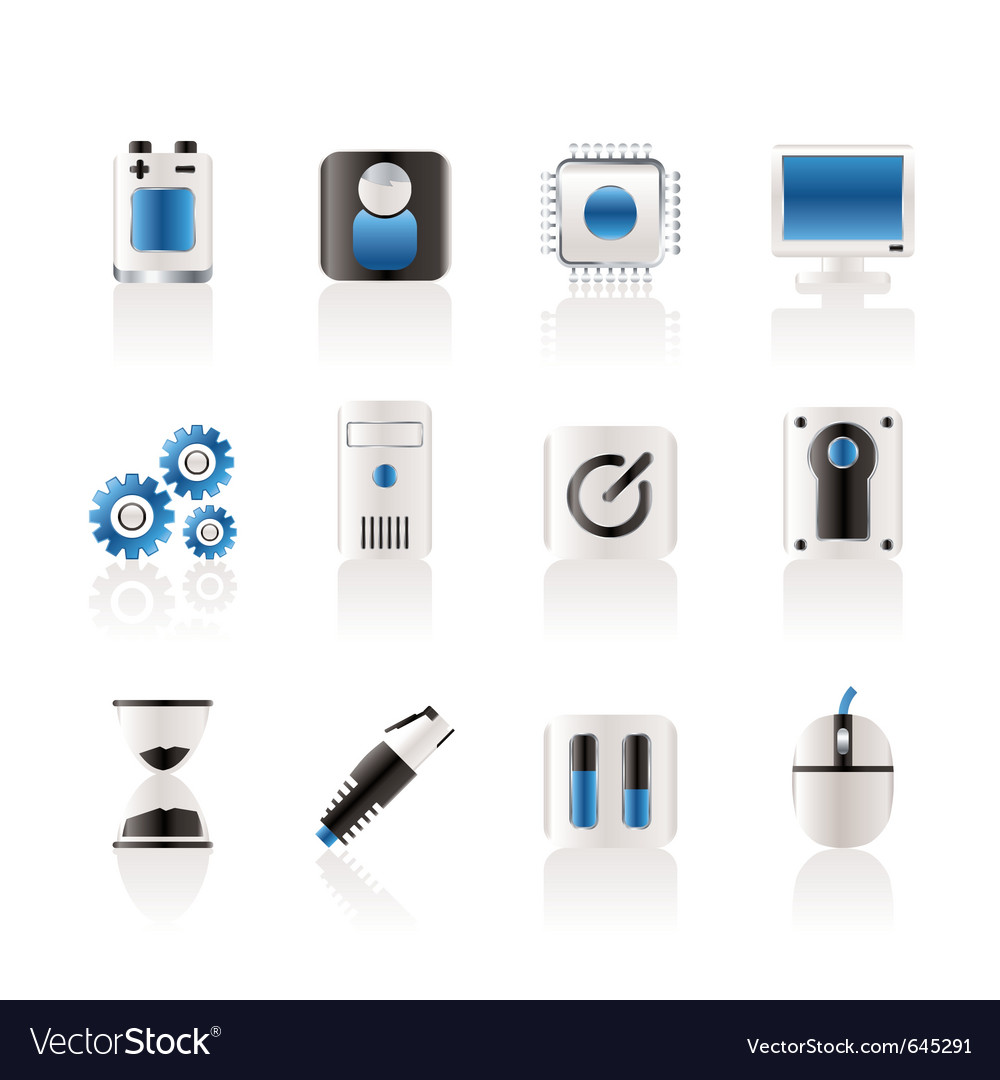 Computer and mobile phone elements icon vector | Price: 1 Credit (USD $1)
