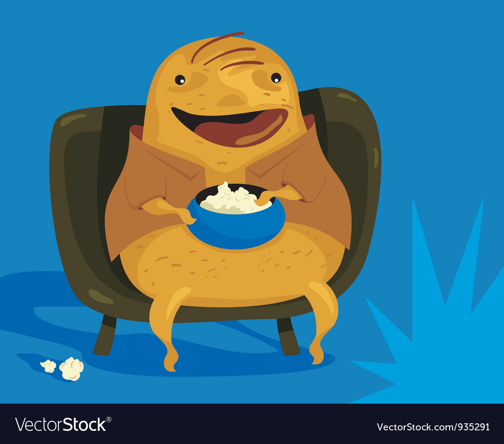 Couch potato vector | Price: 3 Credit (USD $3)
