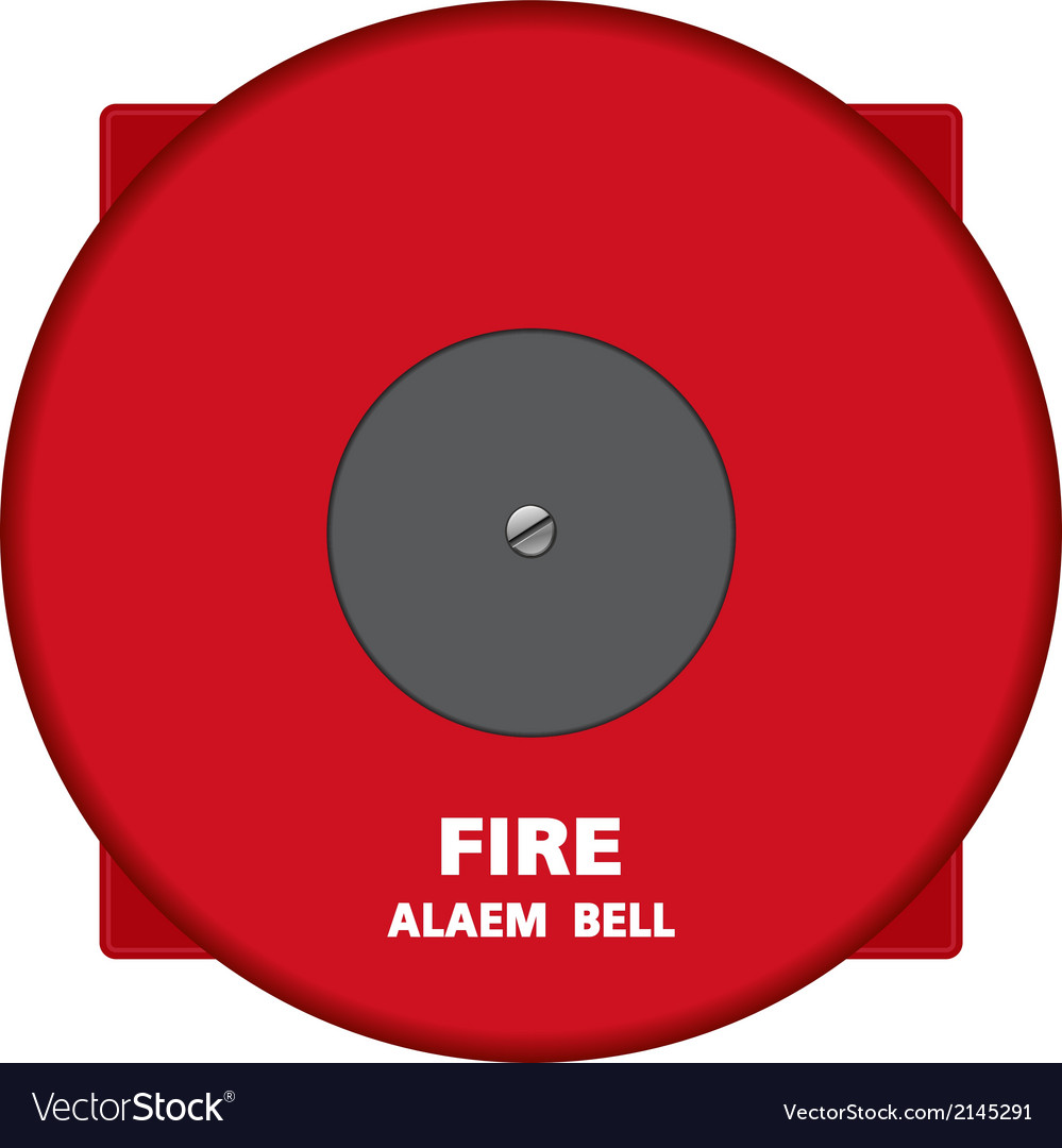 Fire alarm bell vector | Price: 1 Credit (USD $1)