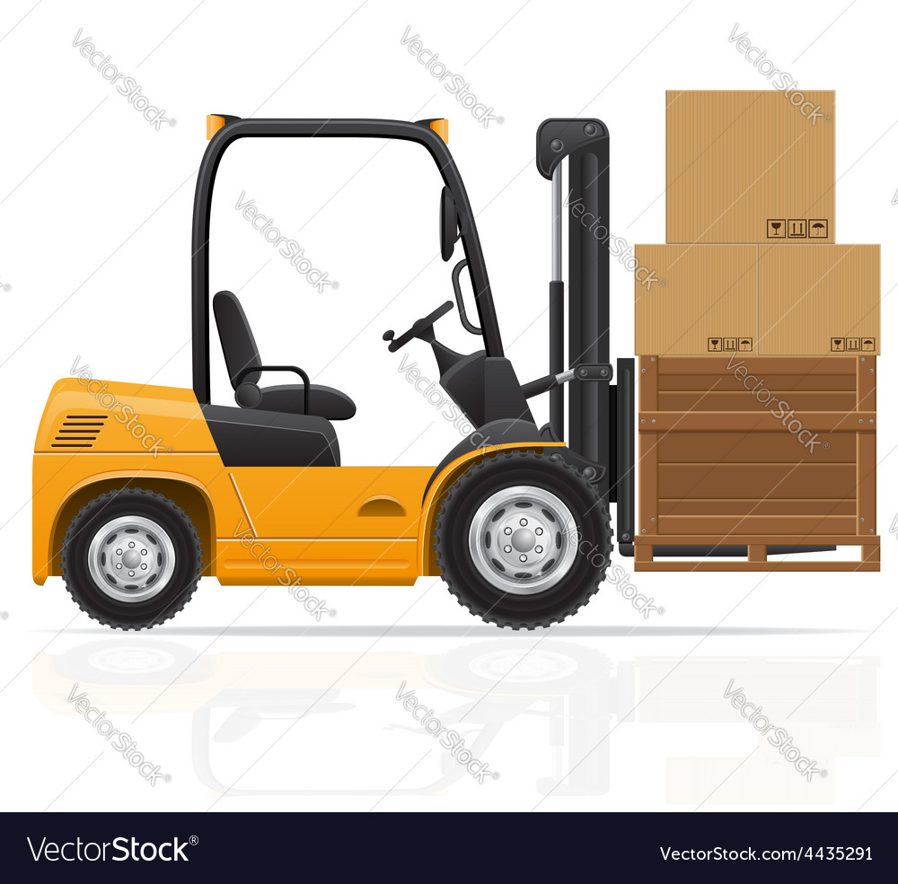 Forklift truck 06 vector | Price: 1 Credit (USD $1)