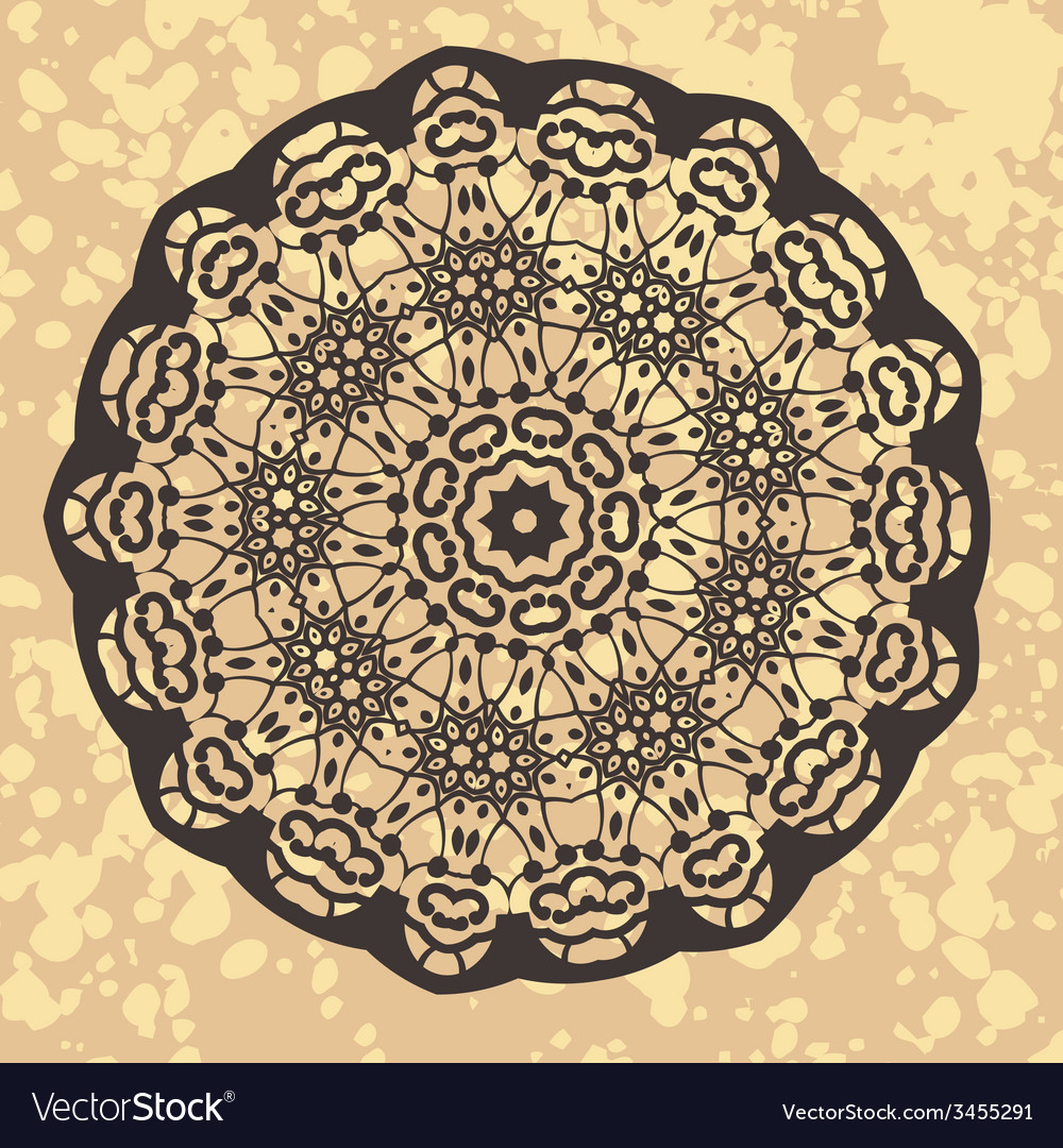Henna inspired colourful mandala vector | Price: 1 Credit (USD $1)
