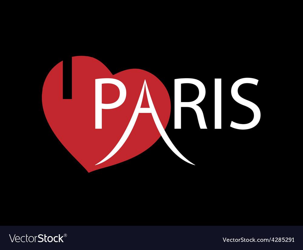 I love paris vector | Price: 1 Credit (USD $1)