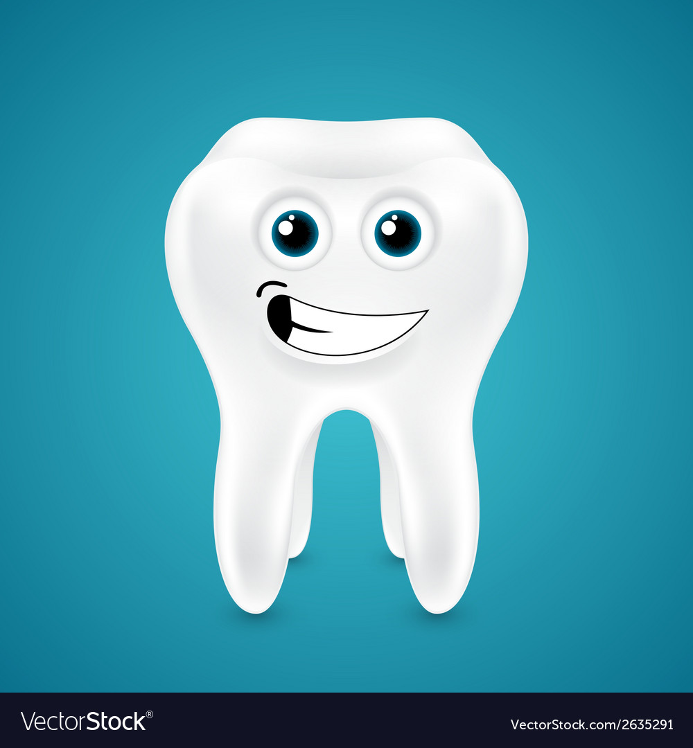Lively smiling healthy tooth vector | Price: 1 Credit (USD $1)