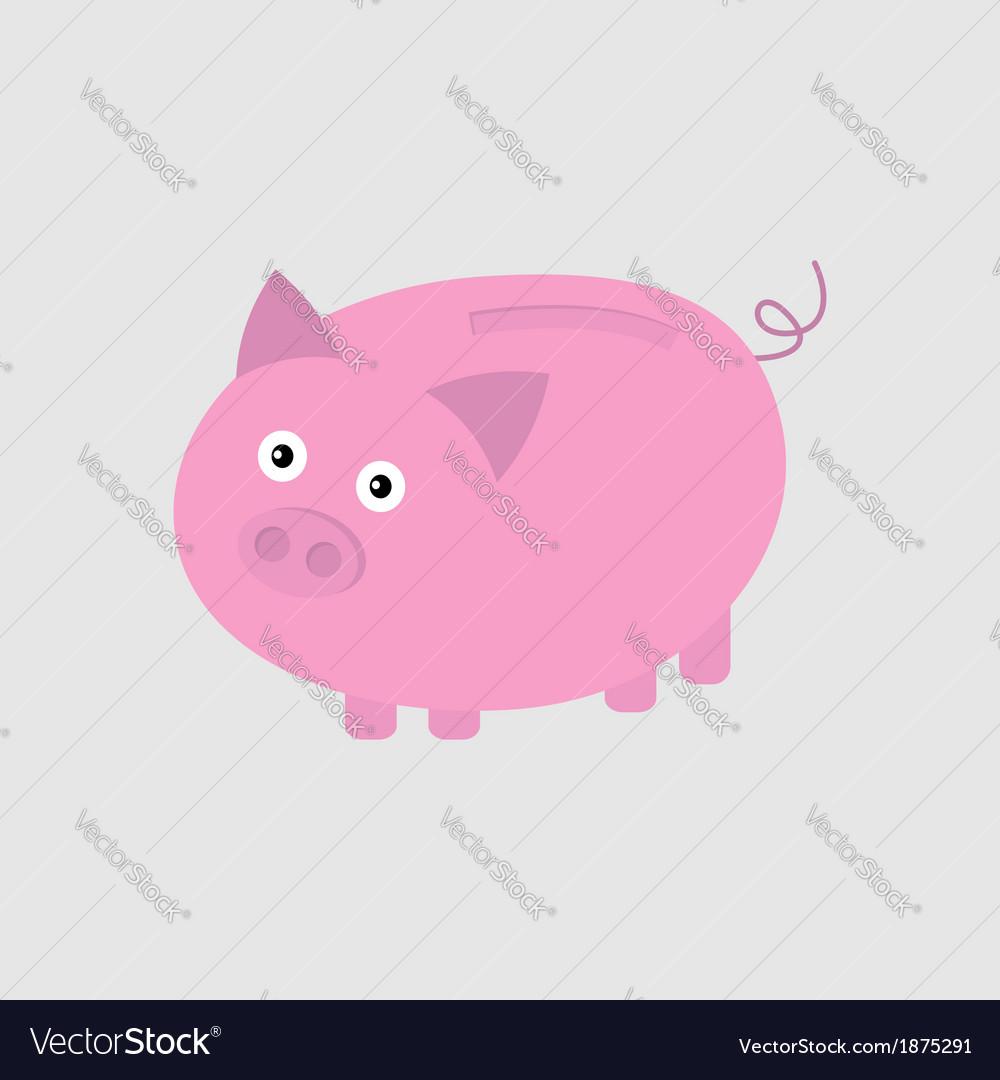 Pink piggy bank card vector   Price: 1 Credit (USD $1)