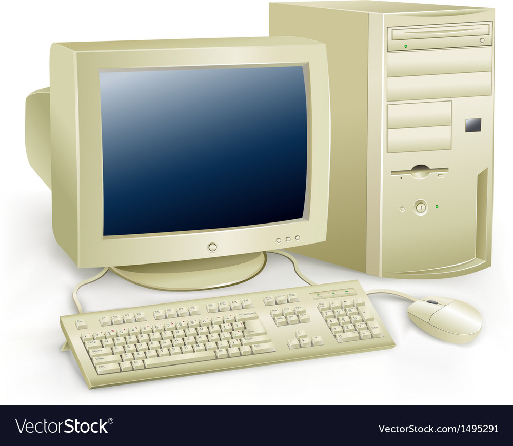 Retro computer vector | Price: 1 Credit (USD $1)