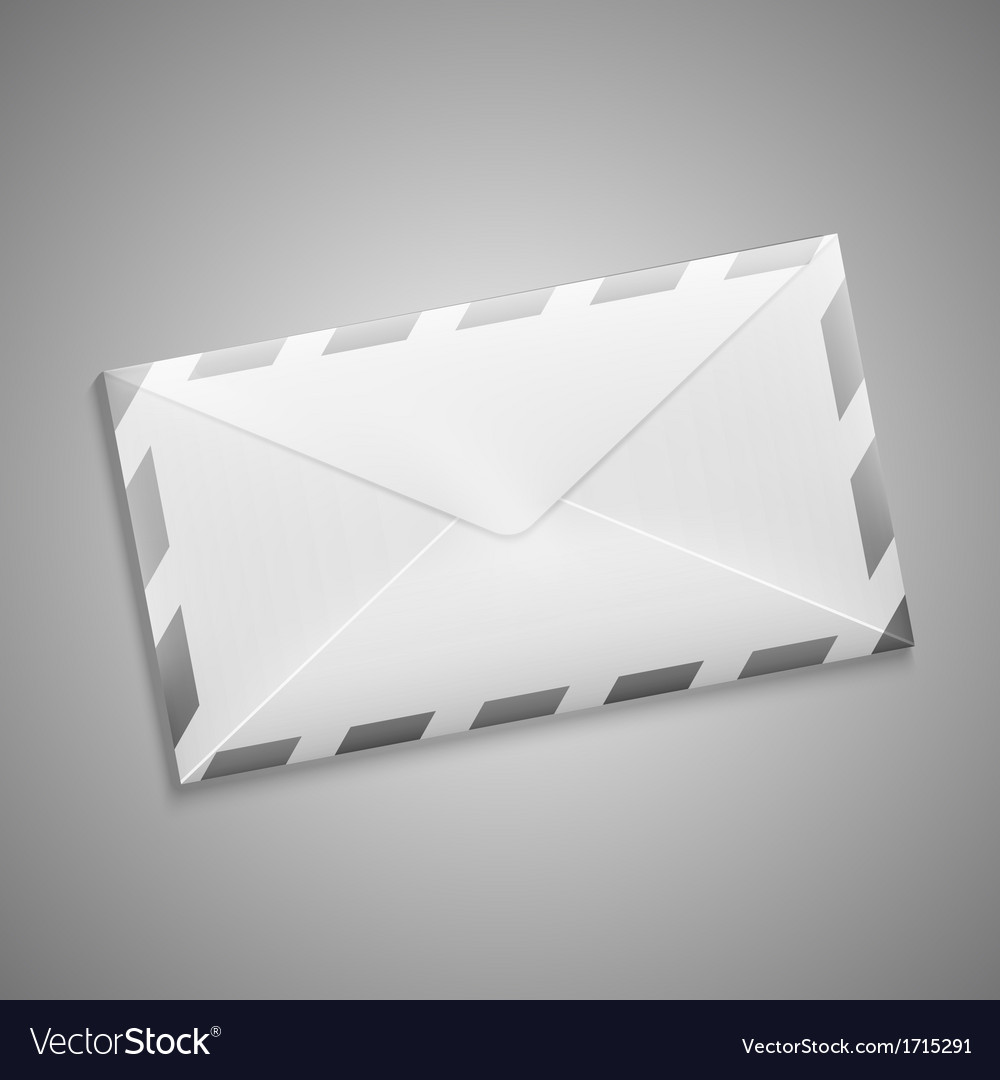 Retro envelope with stripes vector | Price: 1 Credit (USD $1)